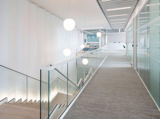 Modern Office Glasgow – Formed MDF panelling