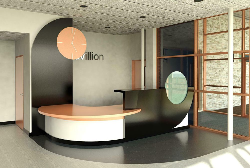 leisure centre reception desk