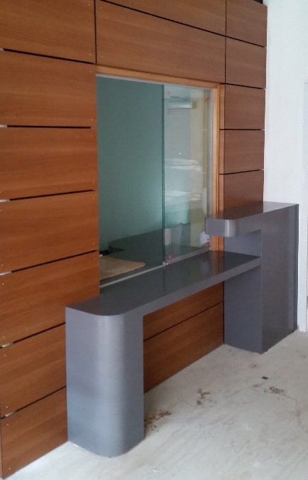 School Corian Reception Counter and Cladding