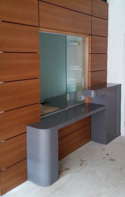 School Corian Reception Counter and Cladding